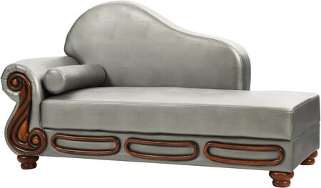 Glory Furniture G826CHS Transitional Faux Leather Wood Frame Chaise Lounge