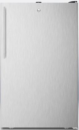 """Summit FF521BLSSHX 20"""" AccuCold Series Medical Freestanding Compact Refrigerator with 4.1 cu. ft. Capacity, Adjustable Glass Shelves, Crisper, Interior Light, Door Lock and Automatic Defrost:"""