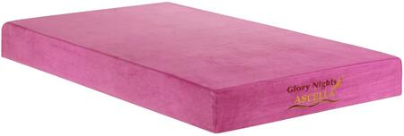 Glory Furniture GN2220T Ascella Pink Series Twin Size Memory Foam Top Mattress