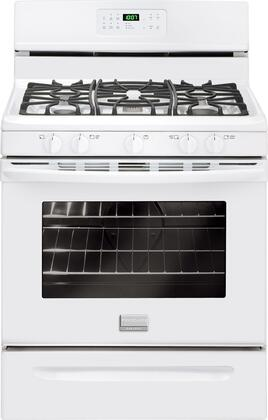 "Frigidaire FGGF3030PW 30"" Gallery Series Gas Freestanding Range with Sealed Burner Cooktop, 5 cu. ft. Primary Oven Capacity, Storage in White"