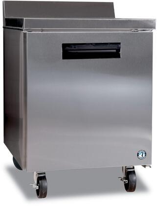 "Hoshizaki CRMR27Wxx 27"" Commercial Worktop Refrigerator with 7.2 cu. ft. Capacity, Stainless Steel Exterior, 1 Epoxy Coated Shelf, Stepped Door Design, and Field Reversible Door, in Stainless Steel"