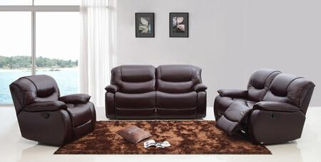 VIG Furniture VGKNE9023BRN Modern Leather Living Room Set