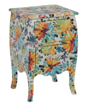 Gail's Accents 40023CH Menagerie Series Contemporary Rectangular 2 Drawers End Table
