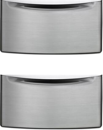 Picture of 2XXHPC155YU - 155 Laundry Pedestal with Storage Drawer and Chrome Handle in Diamond Steel 2 Pedestal