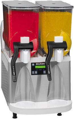 Bunn-O-Matic 34000001 Frozen Beverage Dispenser with Reversing Auger Technology, 2 Large 3-Gallon Hoppers, Manual Fill, Touchpad Display, Flat Lid, Extended Handle and No Lube Design Faucets, in