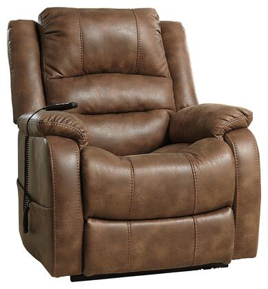 "Signature Design by Ashley 1090 Yandel 40"" Power Lift Recliner with Dual Motor Capability, Split Back Cushion, Jumbo Stitching, Pillow Top Arms and Fabric Upholstery in Color"