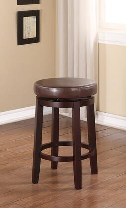 Linon Maya 98352BRN 01 KD  Maya Brown Counter Stool Lifestyle