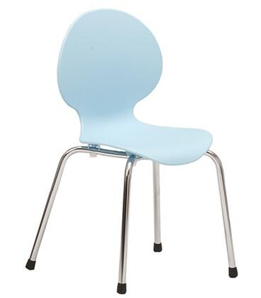 ITALMODERN L3290BLU Bunny-PP Junior Series Modern Not Upholstered Metal and Plastic Frame Dining Room Chair