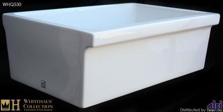"Whitehaus WHQ530X 30"" Quatro Alcove Reversible Fireclay Farmhouse Kitchen Sink in"