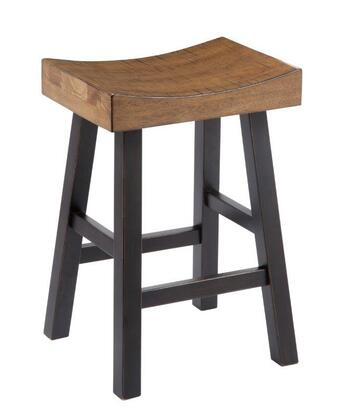 Signature Design by Ashley Glosco D548-0 Bar stool with Saw Kerf Texture, Deep Scooped Saddle Seat and Straight-Line Design in Two-Tone Finish